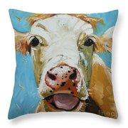 Cow 310 Throw Pillow
