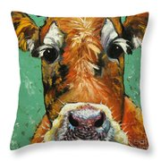 Cow 484 Throw Pillow