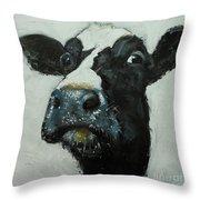 Cow 490 Throw Pillow