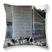 Cow Farm Throw Pillow