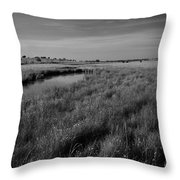 Cow Field 2 Throw Pillow