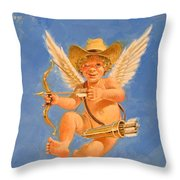Cow Kid Cupid Throw Pillow