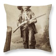 Cowboy, 1880s Throw Pillow