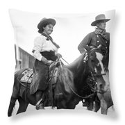 Cowboy And Cowgirl, C1908 Throw Pillow