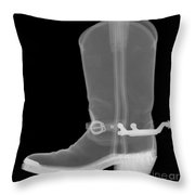 Cowboy Boot, X-ray Throw Pillow
