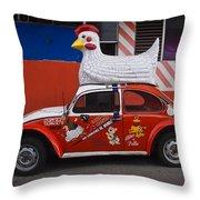 Cowboy Chicken Throw Pillow