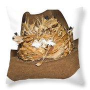 Cowboy Hat With Feathers Throw Pillow