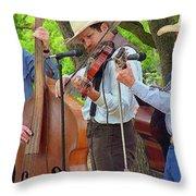 Cowboy Music Throw Pillow