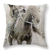 Cowboy Robber, C1900 Throw Pillow