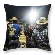 Cowboys At Rodeo Throw Pillow