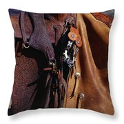 Cowboys Saddle And Chaps Detail Throw Pillow