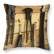 Cowboy's Tools Throw Pillow