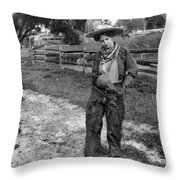 Cowgirl, C1906 Throw Pillow