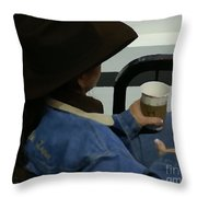 Cowgirl Rodeo Rest Throw Pillow