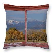 Cows Life Colorado Autumn Rocky Mountains Picture Window Art Throw Pillow