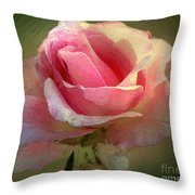 Coy Blush Throw Pillow