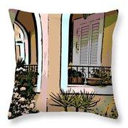 Cozy Arches Throw Pillow