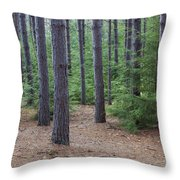 Cozy Conifer Forest Throw Pillow