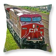 Cp Rail Engine Throw Pillow
