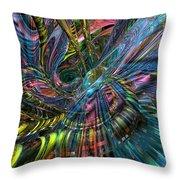 Cr8zy Butterfly Fx  Throw Pillow
