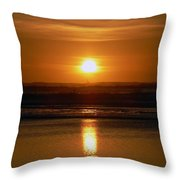 Crab Fishing The Sunset Throw Pillow