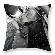 Crabbing On The Potomac Throw Pillow