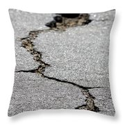 Crack In The Street Throw Pillow