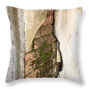 Crack In The Wall Throw Pillow