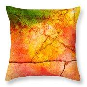 Cracked Kaleidoscope Throw Pillow