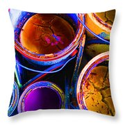 Crackled Paint Throw Pillow