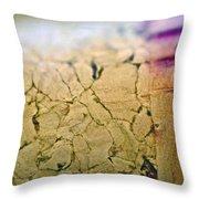 Cracks Throw Pillow