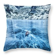 Cracks In The Ice Throw Pillow