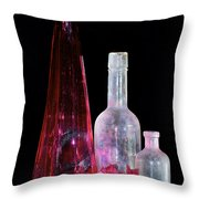 Cranberry And White Bottles Throw Pillow