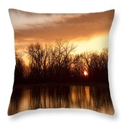 Crane Hollow Sunrise Before The Storm Throw Pillow