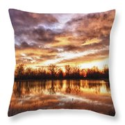 Crane Hollow Sunrise Boulder County Colorado Hdr Throw Pillow