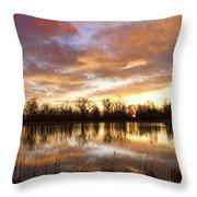 Crane Hollow Sunrise Boulder County Colorado Throw Pillow