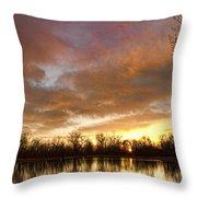 Crane Hollow Sunrise Throw Pillow