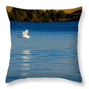 Crane In Flight Throw Pillow