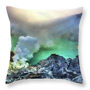 Crater Ijen Throw Pillow