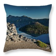 Crater Lake Afternoon Throw Pillow