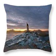 Crater Lake Autumn Dawn Throw Pillow