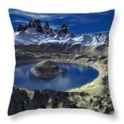 Crater Lake Throw Pillow