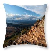Crater Lake Mountains Throw Pillow