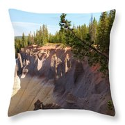 Crater Lake Pinnacles Throw Pillow