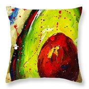 Crazy Avocado 2 - Modern Art Throw Pillow