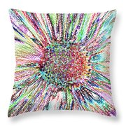 Crazy Daisy Colored Pencil Photoart Throw Pillow