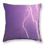 Crazy Night Throw Pillow