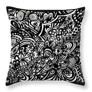 Crazy World We Live In Throw Pillow