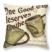Cream Coffee 2 Throw Pillow by Debbie DeWitt