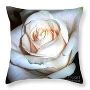 Creamy Rose IIi Throw Pillow